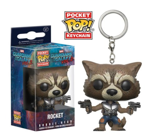 Chaveiro Guardians of the Galaxy Vol.2 Rocket Pocket Pop - Funko