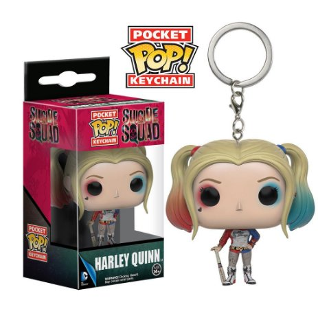 Chaveiro Suicide Squad Harley Quinn Pocket Pop - Funko