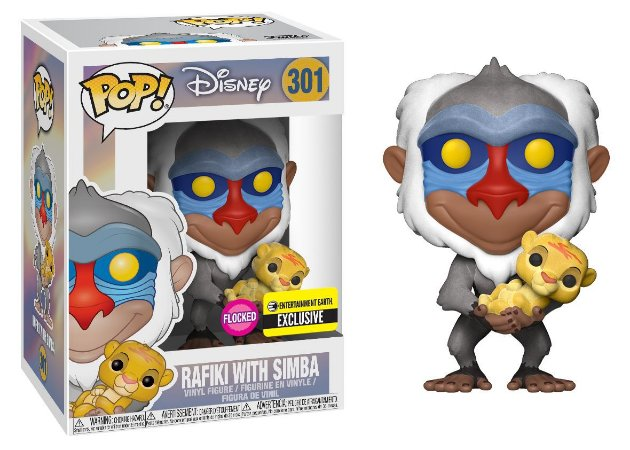 Disney O Rei Leão The Lion King Rafiki with Simba EE Exclusive Pop - Funko