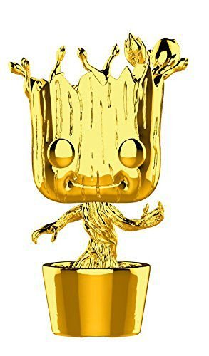 Marvel 10th Anniversary Gold Chrome Groot Pop - Funko