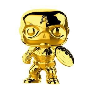 Marvel 10th Anniversary Gold Chrome Captain America Pop - Funko