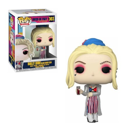 Aves de Rapina Birds of Prey Harley Quinn Black Mask Club Pop - Funko