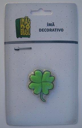 Imã Decorativo Trevo Verde - Imãs do Brasil