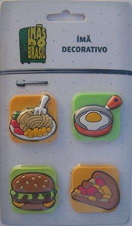 Imã Decorativo Kit Fast Food c/4 - Imãs do Brasil