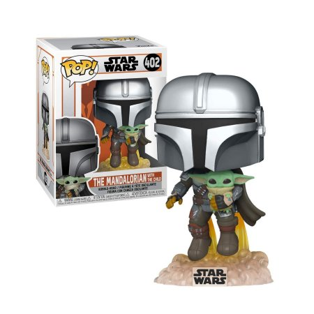 Star Wars The Mandalorian Flying with The Child Pop - Funko