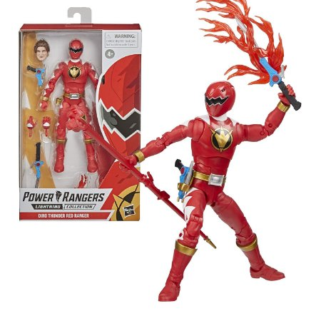 Power Rangers Lightning Dino Thunder Red Ranger - Hasbro
