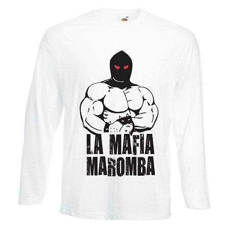 Camiseta Manga Longa Lá Mafia Maromba