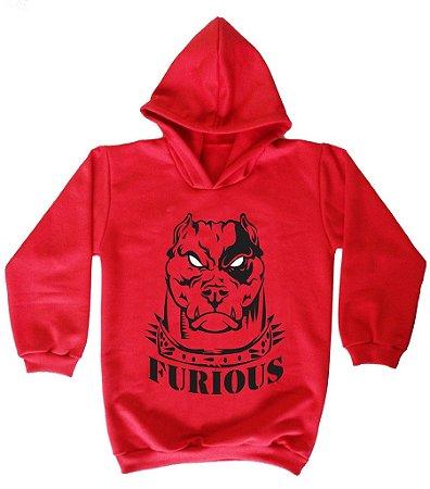 Blusa de Moletom Furious cor vermelha