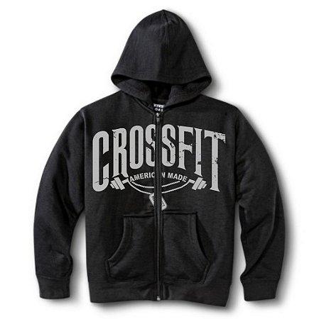 Moletom Crossfit Com Ziper cor Preto