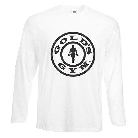 Camiseta Manga Longa Golds Gym Logo