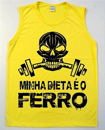 Regata Machão Minha Dieta é o Ferro