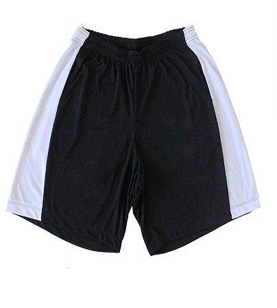 Bermuda Masculina Dryfit Cor Preta Com Faixa Branca