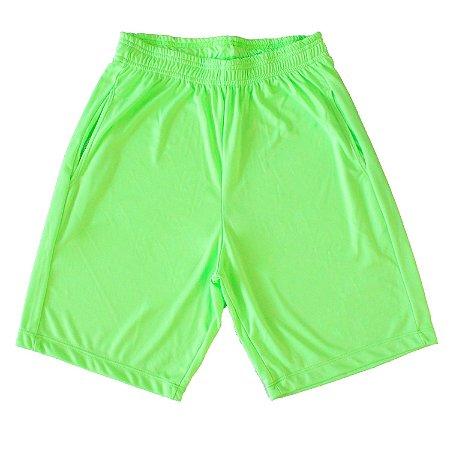 Bermuda Dryfit masculina cor verde fluorescente