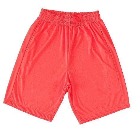 Bermuda Dry Fit masculina cor laranja fluorescente