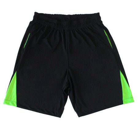 Bermuda Dry Fit masculina cor Preta detalhe verde fluorescente