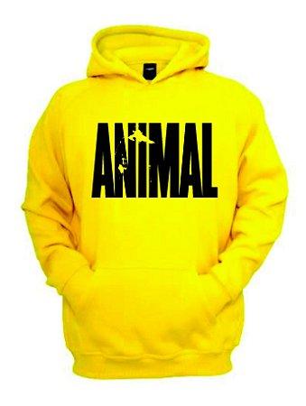 Blusa de Moletom Animal Universal cor Amarela