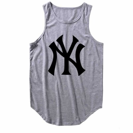 Regata Longline New York Yankees cor Cinza Mescla