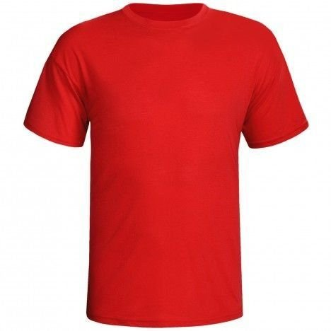Camiseta Vermelha Lisa Sem Estampa