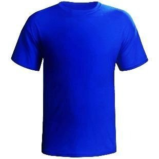 Camiseta Azul Lisa Sem Estampa