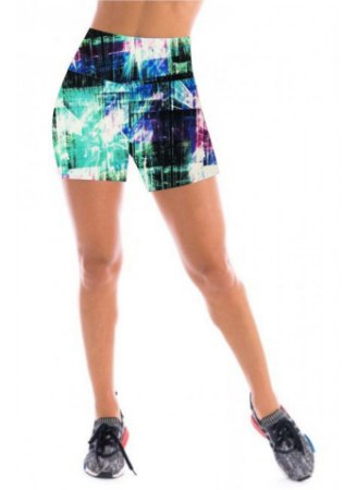 Short Feminino Estampado Cintura Alta - CD:2040