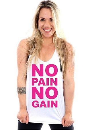 Regata Cavada Feminina No Pain No Gain