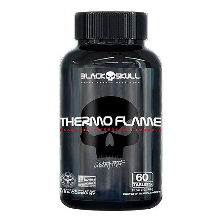Termogênico Thermo Flame 60 Tabletes Caveira Preta - Black Skull