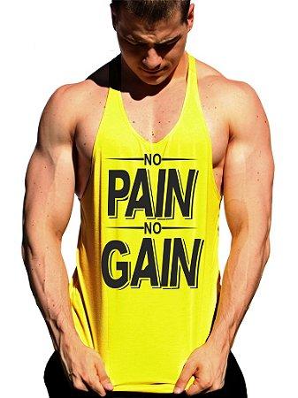 ba4271c05b Camiseta Regata Cavada NO PAIN NO GAIN - Loja Marombada - Roupas de ...