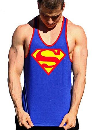 Regata Cavada Superman alça com viés