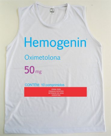 Regata Machão Hemogenin Oximetolona Cor Branca