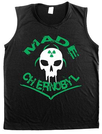 Regata Machão Made Chernobyl Cor Preta