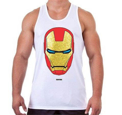 Regata Masculina Homem de Ferro Mascara Dourada - Loja Marombada ... 6301ce40c63