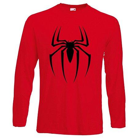 Camiseta Manga Longa Homem Aranha cor Vermelha