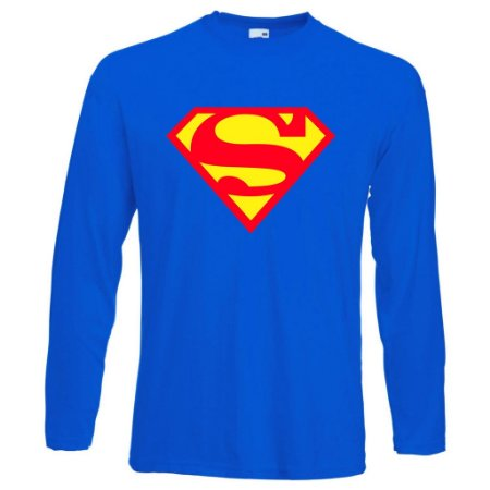 Camiseta Manga Longa Super man