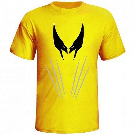 Camiseta Wolverine Mascara cor Amarela