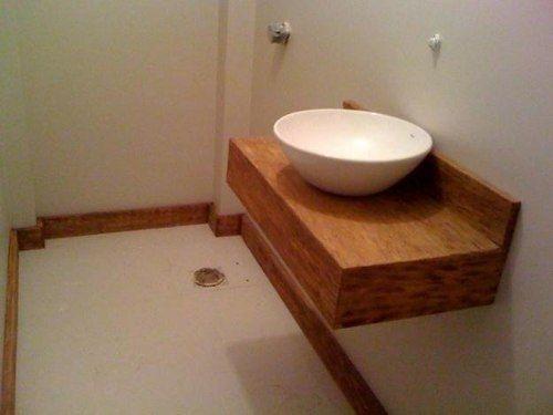 Bancada para lavabos e banheiro - Em Madeira De Demolição