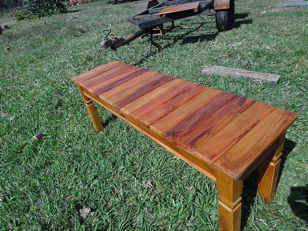 Banco Deck em madeira maciça - Peroba Rosa