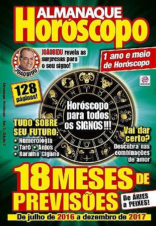 ALMANAQUE HORÓSCOPO  - 3 (2016)