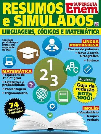 SUPERGUIA ENEM - RESUMOS E SIMULADOS - LINGUAGENS, CÓDIGOS E MATEMÁTICA - 1 RELEITURA (2016)