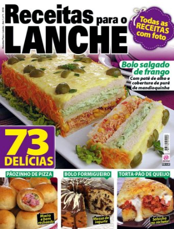 RECEITAS PARA O LANCHE - EDIÇÃO 1 (2016)