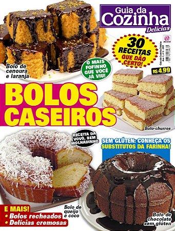 GUIA DA COZINHA DELÍCIAS - EDIÇÃO 3 - BOLOS CASEIROS (2017)