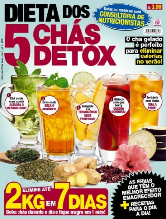 DIETA DOS 5 CHÁS DETOX - 1 (2015)