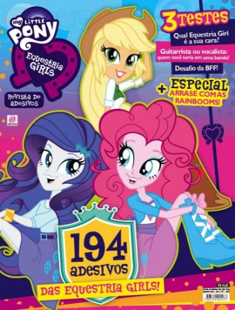 REVISTA DE ADESIVOS MY LITTLE PONY EQUESTRIA GIRLS - 1 (2016)