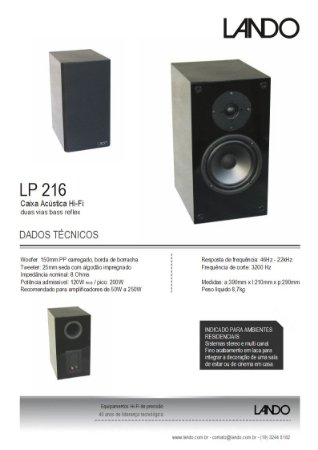 LP 216 Par / frete dedicado gratis