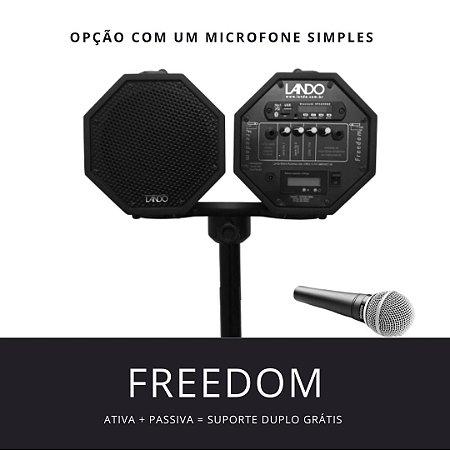 PROMOÇÃO - Freedom R3 preta c/ Microfone Simples + Caixa Passiva