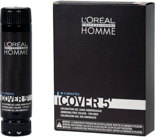 L'Oréal Professionnel Homme Cover 5' - Castanho Claro Nr. 5 - 3x50ml