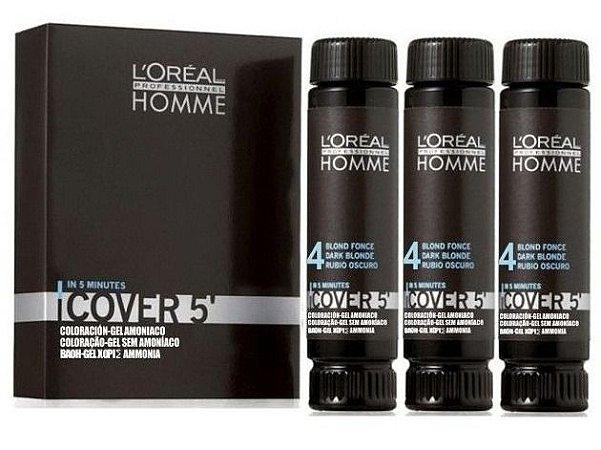 L'Oréal Professionnel Homme Cover 5' - Castanho Nr. 4 3x50ml