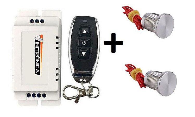 Kit controle sem fio + interruptor piezoelétrico