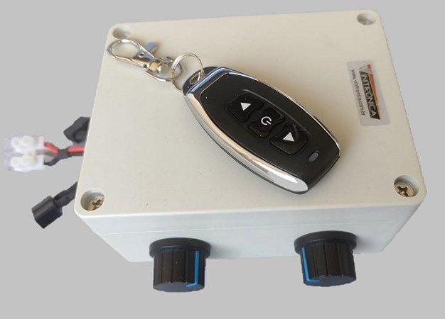 Caixa de controle 12/24 VCC - 2 canais - 30A - Controle paralelo - Controle de velocidade - sem fio