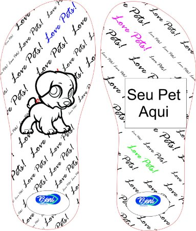 Chinelo Personalizado My Pet