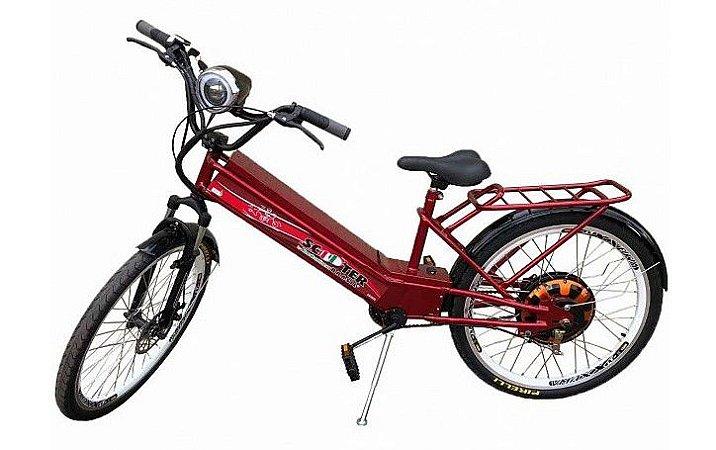 Bicicleta Elétrica 850w  Vermelha com Farol e Alarme